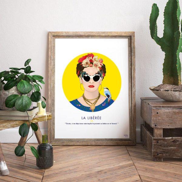 Affiche ASAP Frida Kahlo Jaune