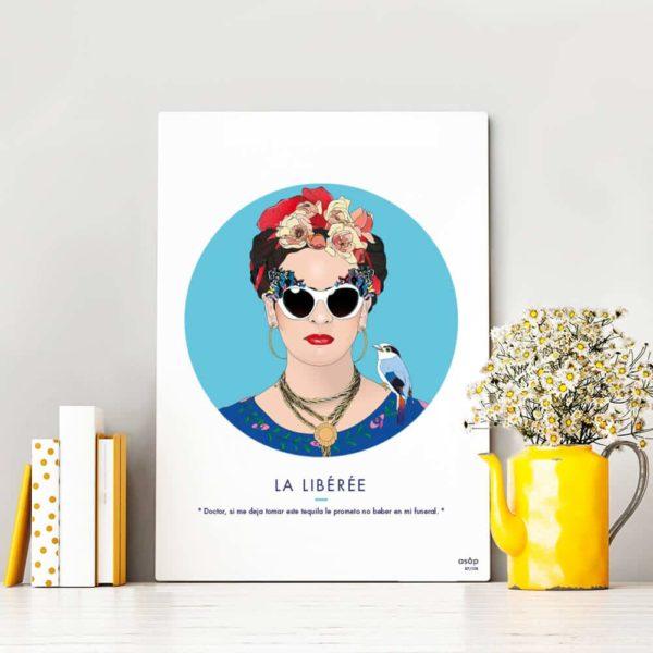 Affiche ASAP Frida Kahlo Bleu