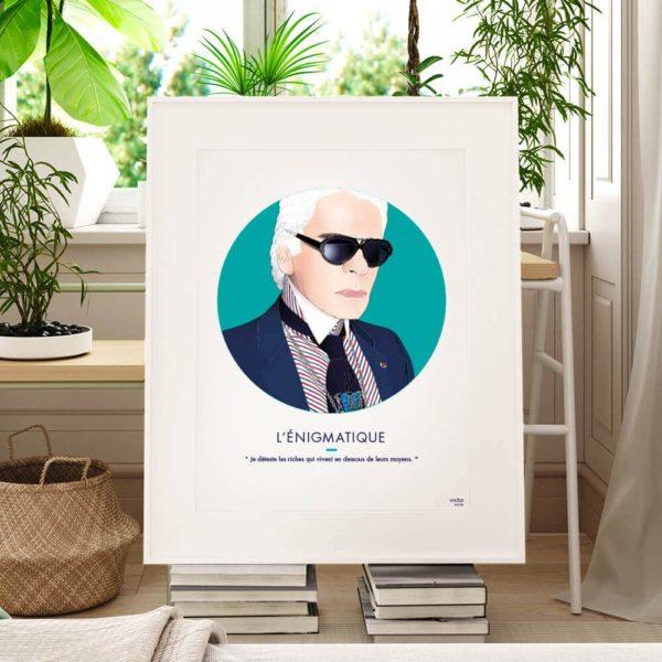 Affiche ASAP Karl Lagerfeld Vert