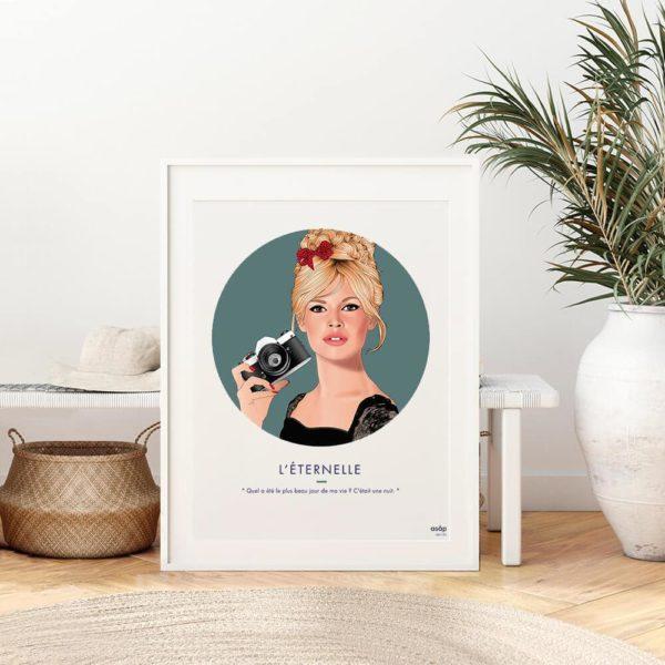 Affiche ASAP Brigitte Bardot Vert