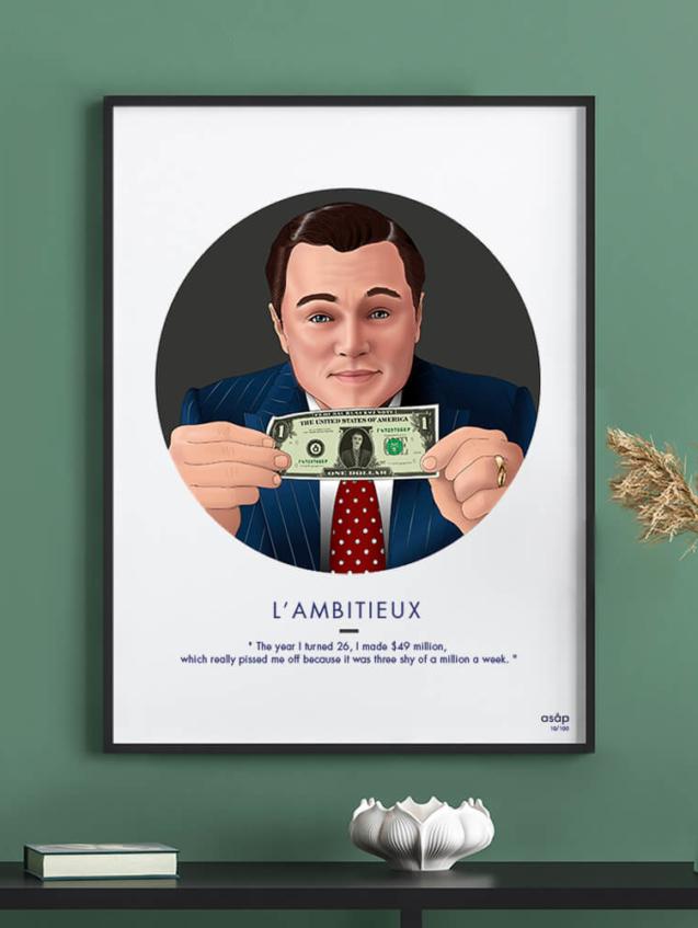 Affiche ASAP Loup de Wall Street Gris