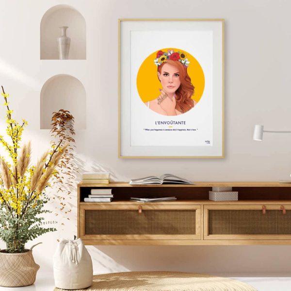 Affiche ASAP Lana Del Rey Jaune