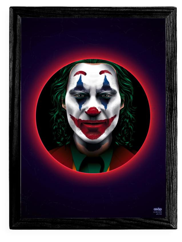 Affiche ASAP Le Joker Film 2019 Néon Cadre noir